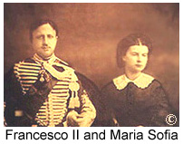 King Francesco II and his Consort, Queen   Maria Sofia, in 1859. Returned to Naples in 1984 thanks to the efforts of the Duke of Castro.